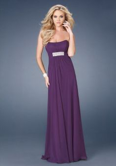 a-line crystal long backless strapless chiffon evening dress