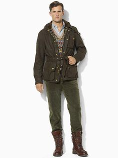 Oilcloth Bike Jacket - Cloth   Jackets & Outerwear - RalphLauren.com