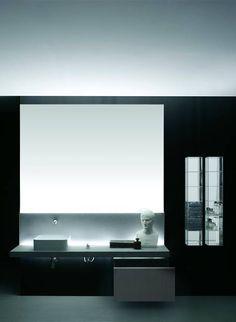 FLYER - Wooden vanity top / marble / granite / corian® by Boffi Bathroom Vanity Makeover, Small Bathroom Vanities, White Vanity Bathroom, Modern Bathroom, Bathrooms, Relaxing Bathroom, Wooden Vanity, Boffi, Bathroom Furniture