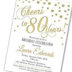 image result for 80th birthday invitations ideas for sw birthday
