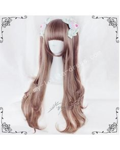 70cm Brown Pink Curls Lolita Wig #lolita  #wig