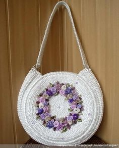 Discover thousands of images about 618 191 KB) Crochet Purse Patterns, Doily Patterns, Crochet Motif, Crochet Flowers, Crochet Handbags, Crochet Purses, Bag Pattern Free, Crochet Videos, Knitted Bags
