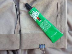 Lederhose Kürzen durch Umkleben - ohne Gewähr!