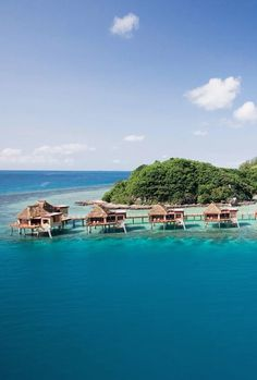 Adults-only island resort w/ Fijian bungalows. #Fiji