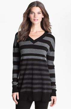 Caslon Double V-Neck Tunic Sweater available at #Nordstrom