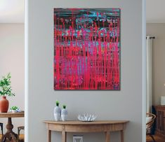 Pink Frequencies (Electric Panorama) (2021) - ABSTRACT ART - NESTOR TORO - LOS ANGELES Abstract Art For Sale, Abstract Styles, Large Painting, Acrylic Painting Canvas, Abstract Painters, Abstract Expressionism Art, Painting Edges, Lovers Art, Angels