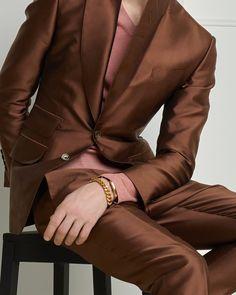736bba4739c6 Caramel iridescent twill atticus jacket. Tom Ford Online Store