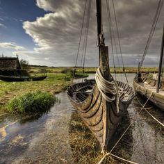 Viking ship docked