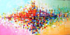 Abstract Acrylic painting ORIGINAL abstract painting por artbyoak1