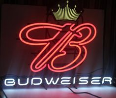 Vintage NEON Budweiser Sign, Large, Barware, Mancave, Antique Alchemy on Etsy, $292.53 CAD