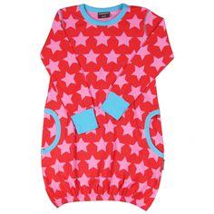 Super Star Red Pink Dress - ittikid • Scandinavian Children's Clothes - Scandinavian Baby and Kids Clothes | Organic Eco Friendly Kids Clothes from Smafolk, Maxomorra, Duns Sweden, Sture & Lisa