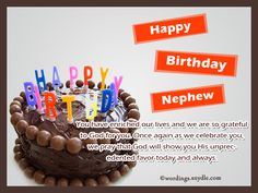 Nephew Birthday Messages: Happy Birthday Wishes for Nephew – Wordings and Messages Happy Birthday Nephew Funny, Birthday Wishes For Nephew, Funny Happy Birthday Wishes, Birthday Messages, Happy Birthday Cards, Birthday Greetings, Family Birthdays, Cards For Friends, Special Occasion