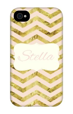 Come shop this Gold Chevron Personalized iPhone 4 Tough Case at http://www.putacaseon.me/products/gold-chevron-personalized-iphone-4-tough-case . Using our custom case tool you can design your case exactly how you want it.
