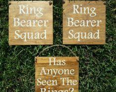Ring Bearer Signs/ Ringbearer Sign/Flower by CreativeDesignsByBri