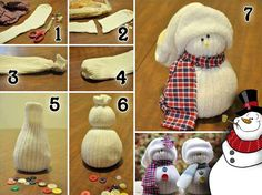 Old Sock Crafts DIY Sock Snowman Old Sock Crafts Monster Sock Puppet Old Sock Crafts Foam Balls Christmas Crafts from Old Sock Old Sock Crafts Christmas . Read Brilliantly Frugal Ways To Use Old Mismatched Socks Sock Snowman Craft, Cute Snowman, Snowman Crafts, Snowman Ornaments, Melted Snowman, Ball Ornaments, Kids Crafts, Sock Crafts, Adult Crafts