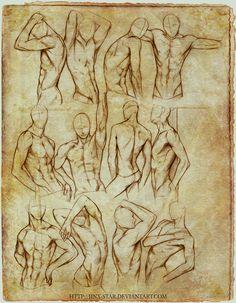 +MALE BODY STUDY II+ by jinx-star.deviantart.com on @deviantART