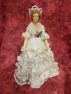 """Antique Vintage French Candy Box Wax Doll 13 1 2"""" Marly France Paris"""