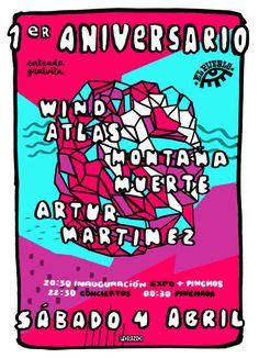 Wind Atlas + MontañaMuerte en El Pueblo Café Cultural, Ourense concerto concierto music música