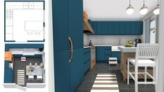 Here are the best kitchen design software programs to help you create or remodel… – cheap kitchen cabinets Kitchen Design Program, Kitchen Design Software, Simple Kitchen Design, Kitchen Lighting Design, Best Kitchen Designs, 3d Design, Layout Design, Design Room, This Old House
