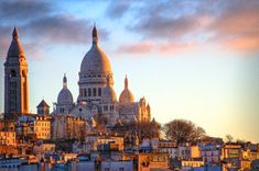 Sacré-Coeur - Best visited in the early morning or at dusk because the how the light looks on the church