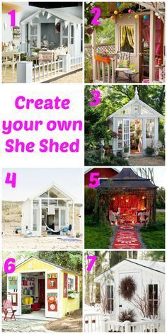 Move over man cave, it's time for the new she shed. Decorated, stylish, pretty sheds are well on trend now, and perfect for an extra sewing room, office, craft room or more. Check out how you could create a she shed for your own garden.