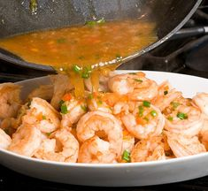 Thai-Style Ginger & Sweet Red Chili Shrimp I Packed full of flavor thanks to a combination of fresh ginger, garlic and Thai chili sauce I Once Upon a Chef Seafood Dishes, Fish And Seafood, Seafood Recipes, Chili Shrimp, Sweet Chili, Red Chili, Dinner Is Served, Asian, Main Dishes