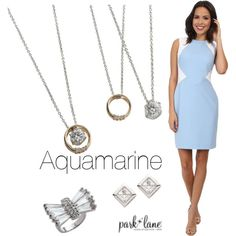 Aquamarine by parklanejewelry on Polyvore featuring Calvin Klein