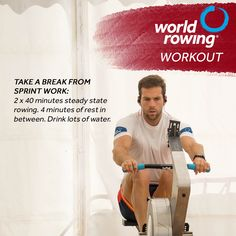 Try this indoor rowing workout with World Rowing. Rowing Workout, Indoor Rowing, Steady State, Workouts, Gym, World, Fitness, Body Sculpting Workouts, Exercise Workouts