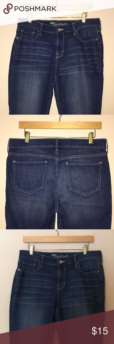 117af46dcd8b28 Old Navy Standard Straight Capri Jeans Old Navy Straight Standard Boyfriend  Jeans Dark Wash 87%