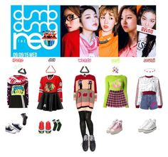 """""""RED VELVET - DUMB DUMB❤️"""" by mabel-2310 on Polyvore featuring Miss Selfridge, adidas Originals, Biba, Gipsy, Sonia by Sonia Rykiel, Moschino, Topshop, VFiles and adidas"""