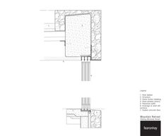 Image 9 of 14 from gallery of Mountain Retreat / Fearon Hay Architects. Wall Section Detail, Window Detail, Plan Drawing, Detailed Drawings, Architecture Details, Facade, Bali, Floor Plans, Windows