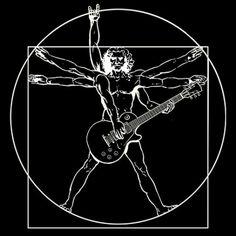 Vitruvian Guitarist Les Paul T-shirt