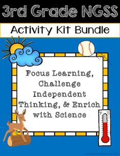 **Aligns to 3rd Grade NGSS**Environment and Living Things Activity Kit Included in this kit you will find:-Environment and Living Things Kit Menu (keeps students independent learning focused with 6 activity choices)-Fossils Slideshow Slideshow (planning card and directions card)-How Animals Live Pamphlet (copy back to back to create pamphlet for recording research)-Environment Tab Book (slow changes versus quick changes)-Environment and Animals Posters-Animal Adaptations Lapbook (body part…