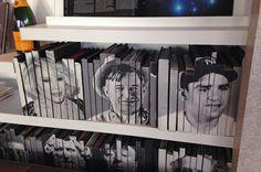Love this idea. Book Spine/Portrait Art