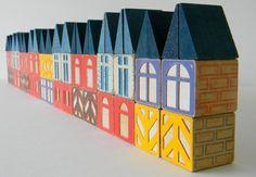 CHOOSE ONE 10-block set of Vintage Scandinavian by MonkiVintage