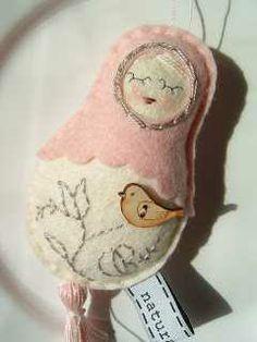 Felt Matryoshka Nesting Doll Ornament