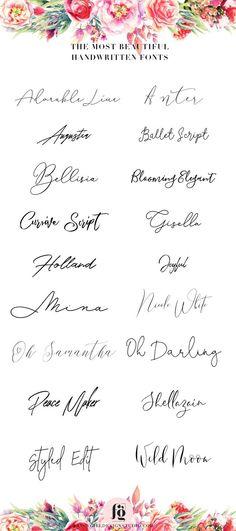 [ plus belles polices manuscrites # handwritten # font … – DIY Tattoo – most beautiful handwritten fonts # handwritten # font … – DIY Tattoo – Tattoo Writing Fonts, Tattoo Script, Tattoo Quotes, Tattoo Writing Styles, Tattoo Fonts Cursive, Tattoo Font Styles, Tattoo Style, Tattoo Designs, Fonts For Tattoos