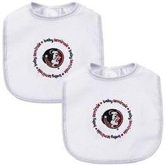 Florida State Seminoles (FSU) 2-Pack Baby Bibs Set - White