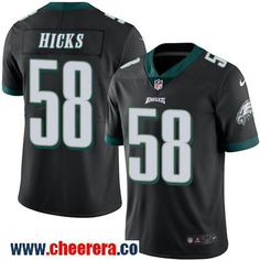 Men's Philadelphia Eagles #58 Jordan Hicks Black 2016 Color Rush Stitched NFL Nike Limited Jersey
