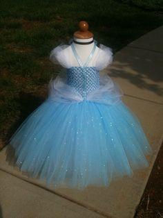 Cinderella inspired tutu dress by KyliesTutuCute on Etsy, $55.00