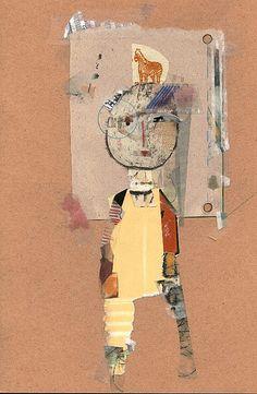 jacqui wegren - collage: girl with a zebra
