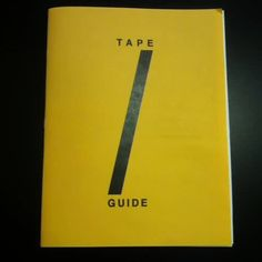 """Video flip through of """"Tape Guide"""""""