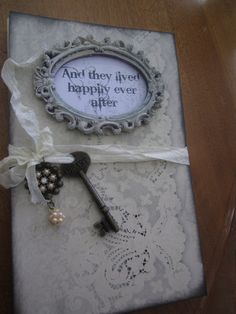 Shabby Chic Wedding Guest Book Personalize Name and by trusted, $75.00