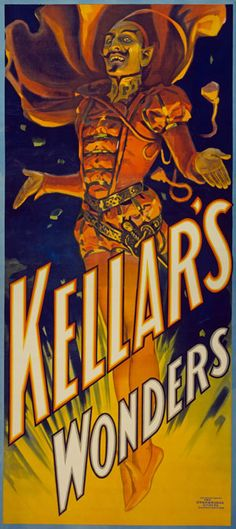 "M16 Huge 17""x38"" Vintage Magic Kellar Magician Illusionist Poster re Print   eBay"
