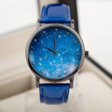 Lua relógio foto relógio unissex mulheres homens relógio de pulso Starry Sky espaço relógio Little Star relógio de pulso presente de aniversário especial saat(China (Mainland))