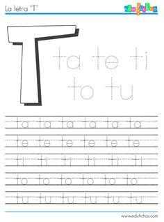 Descarga la hoja de trabajo de las sílabas con T y Tr. Fichas y hojas de lectoescritura para aprender las sílabas. Descarga el cuaderno con todas las letras