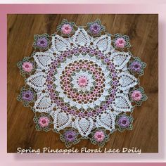Designere Potpourri - Spring Pineapple Floral Lace Doily