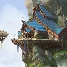 campaign environment -- Share via Artstation iOS App, Artstation 2017 Fantasy City, Fantasy House, Fantasy Places, Fantasy Map, High Fantasy, Medieval Fantasy, Fantasy World, Fantasy Artwork, Fantasy Art Landscapes