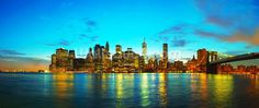 New York Cityscape at Sunset wall mural