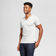 c4257586 Go back to the basics and add this Slim Solid V-Neck T-Shirt